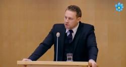 Mattias Karlsson fra dagens partilederdebatt i Riksdagen.