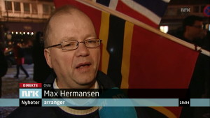 Max Hermansen, initiativtaker til PEGIDA Norge.